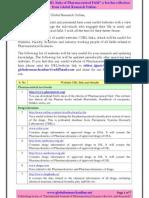 Useful Websites of Pharmaceutical Field
