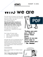 Year 4 Who We Are Newsletter 2011