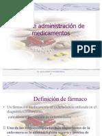 Vias de administración de medicamentos