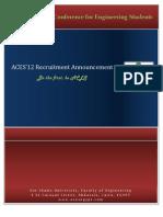 ACES 2012 - Staff Level 2 Recruitment