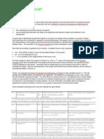 Scoping Checklist