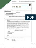 Autoevaluación. Características, funciones, papeles, y clasificación de la Administración.
