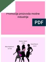 Prezentacija Promocija Proizvoda Modne Industrije