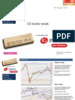 Oil Looks Weak 18th AugustIG
