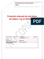 Oracle - Creación MANUAL de una base de datos 11g en Windows