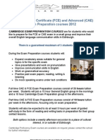 FCE and CAE Exam Preparation Courses in Edinburgh 2012