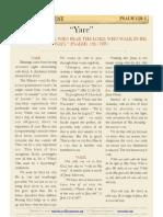 """Psalm 128 v1, """"Yare"""""""