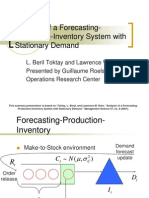 Analysis of a Forecasting Production Inventory System With Stationary Demand Forecast Evolution Models Guillaume Roels 1233779442126234 3