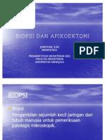 Biopsi Dan Apikoektomi