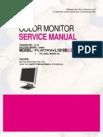 3082484 LG Monitor Flantron L1810B Service Manual