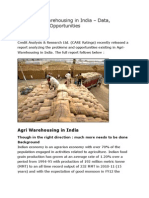 Agriculture Warehousing in India