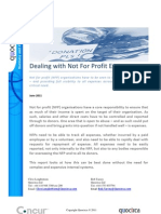 Dealing with not for profit expenses