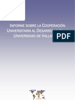 Informe sobre la Cooperación Universitaria al Desarrollo en la UVa