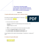 Resolution Equation Differentielle 1er Ordre
