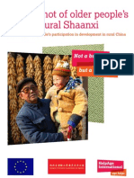 A Snapshot of Older People's Lives in Rural Shaanxi