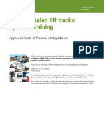 Rider-Operated Lift Trucks - Operator Training
