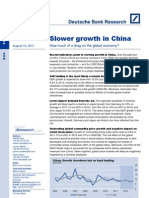 China Growth Slowdown
