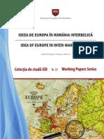 Studiu IER Despre Statele Unite ale Europei - SUE