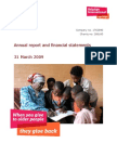 Annual Report and Financial Statements 2009