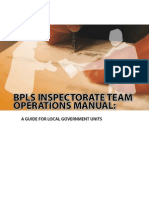 BPLS Inspectorate Team Operations Manual 2009