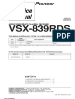 Pioneer VSX839RDS Rec