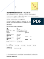 gayes nomination form