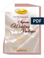 Villa Immaculada Supreme Wedding Package 2011