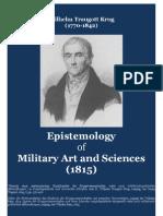 KRUG Wilhelm Traugott. Epistemology of Military Art and Sciences 1815