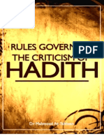 Rules Governing the Criticism of Hadeeth