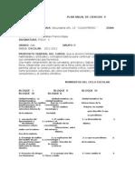 Plan Anual de Ciencias II 2011