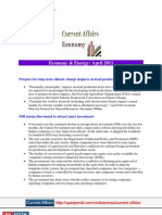 Current Affairs for IAS Exam 2011 Economy and Energy April 2011 Www.upscportal