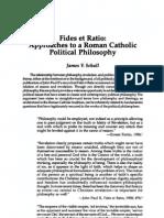 Fides Et Ratio Approaches to a Roman Catholic Political Philosophy