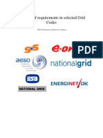 Analysis of the Requirements in Selected Grid Codes