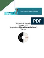 Manual Módulo Administrativo Tomo 2 _Menu Mantenimiento_