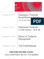 Emergency Pesticide Training Courses - 2011