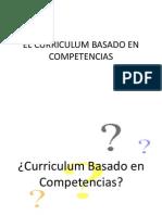 El Curriculum Basado en Competencias