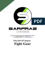 Fight Gear Price List Sarfraz Pakistao