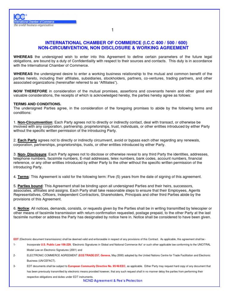 Icc Ncnd International Arbitration Signature