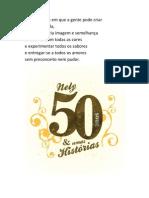 Convite Para Sabado 50 Anos
