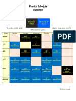 2019-2020 Practice Schedule