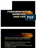 Fundamentals of Biometric Analysis