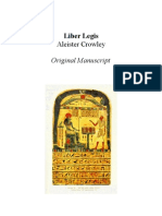 Liber Legis - Aleister Crowley - Original Manuscript