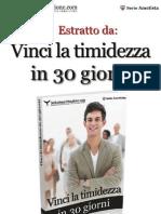 Estratto Vinci La Timidezza in 30 Giorni