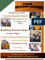 Black-brown Conference Program
