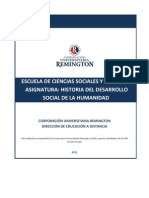 Historia Del Desarrollo Social