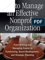 How to Manage an Effective NPO