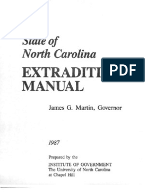 NC Extradition Manual | Arrest Warrant | Arrest