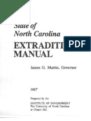 NC Extradition Manual   Arrest Warrant   Arrest