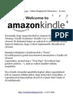 Kindle - E-Book olvasó magyar nyelű leírása