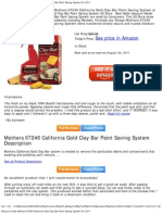 Discount Code Mothers 07240 California Gold Clay Bar Paint Saving System for 2011